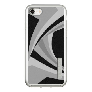 Modern Stylish Black White Silver Grey Pattern Incipio DualPro Shine iPhone 8/7 Case