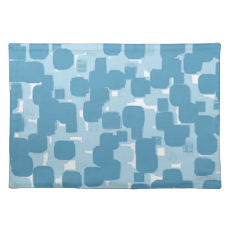 Modern Stylish Blue Abstract Pattern Placemat