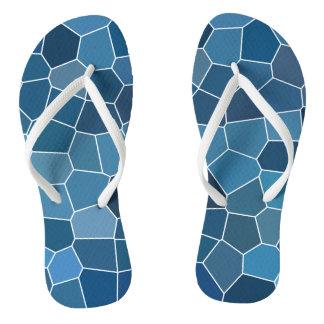 Modern Stylish Blue Pattern Flip Flops
