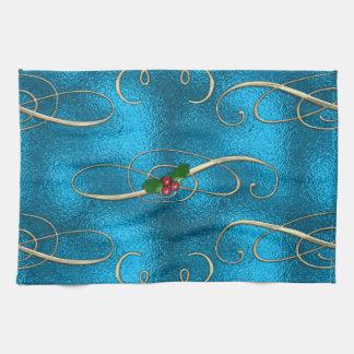 Modern & Stylish Christmas Swirls Kitchen Towel