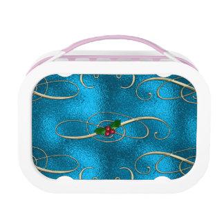 Modern & Stylish Christmas Swirls Lunch Box