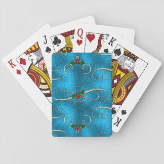 Modern & Stylish Christmas Swirls Playing Cards