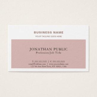 Modern Stylish Colors Professional Chic Plain Business Card