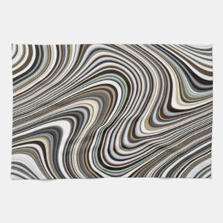 Modern Stylish Curvy Abstract Pattern Kitchen Towel
