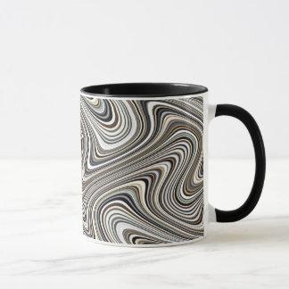 Modern Stylish Curvy Abstract Pattern Mug
