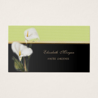 Modern Stylish Elegant-Polka Dots,Calla Business Card