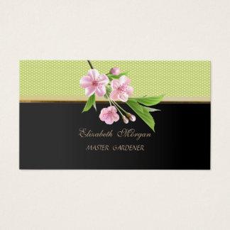 Modern Stylish Elegant-Polka Dots,Cherry Tree Business Card