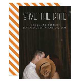 Modern STYLISH  photo save the date personalized Card