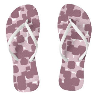 Modern Stylish Pink Abstract Pattern Flip Flops