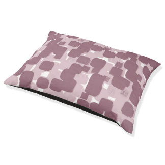 Modern Stylish Pink Abstract Pattern Pet Bed