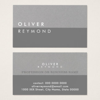 modern & stylish professional gray-on-gray business card