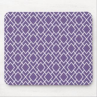 Modern Stylish Purple Diamond Pattern Mouse Pad