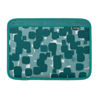 Modern Stylish Teal Abstract Pattern Sleeve For MacBook Air