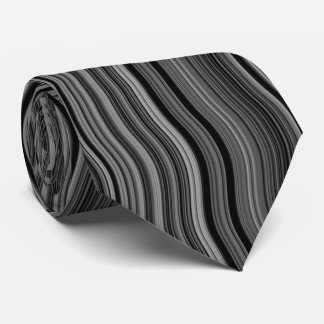 Modern Stylish Wavy Curvy Pattern Tie