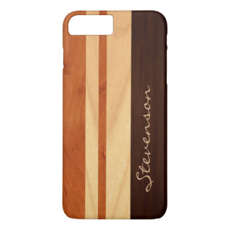 Modern Stylish Wood Stripes - Faux Wood Grain Look iPhone 7 Plus Case
