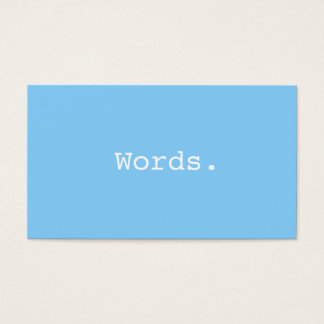 Modern stylish writer publisher editor sky blue business card