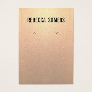 Modern Subtle Rose Gold Earring Display Card