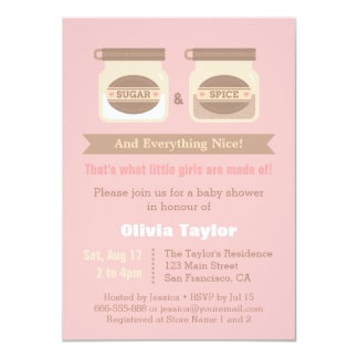 Modern Sugar and Spice Baby Shower Invitations