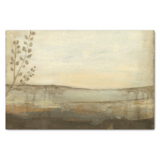 Modern Sunset Landscape Oil Painting Tissue Paper
