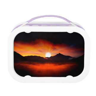 Modern Sunset Nature Lunch Boxes
