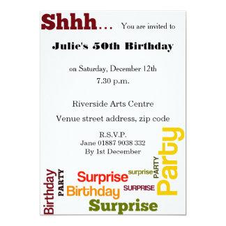 Modern Surprise Birthday Party Invitation