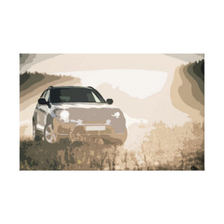 Modern SUV in Amazing Light Conditions Canvas Print