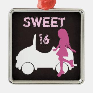 Modern Sweet 16 Silhouette Ornament