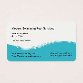 Modern Swimming Pool Service Business Card