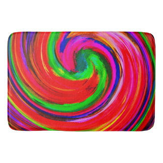 Modern Swirl Abstract Art #12 Bathroom Mat