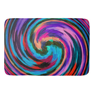 Modern Swirl Abstract Art #20 Bathroom Mat