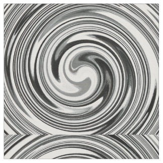 Modern Swirl Abstract Art #7 Fabric