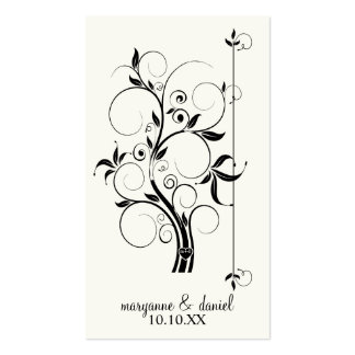 Modern Swirl Flourish Scroll Vintage Leaf Pattern Double-Sided Standard Business Cards (Pack Of 100)