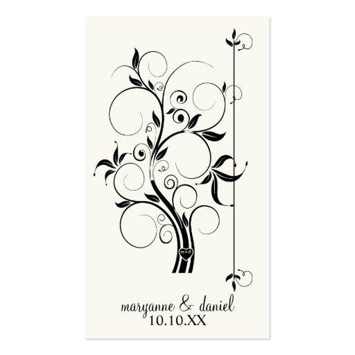 Modern Swirl Flourish Scroll Vintage Leaf Pattern Business Card Template