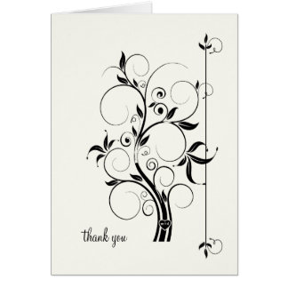 Modern Swirl Flourish Scroll Vintage Leaf Pattern Card