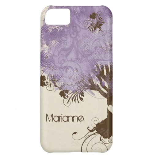 Modern Swirl Scroll Tree of Life Spring Summer iPhone 5C Cover