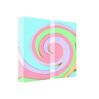 Modern Swirly Abstract Art Wrapped Canvas