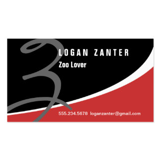 Modern Swoosh Monogram Z Business Card