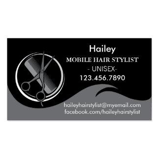 Modern Symbol Hair Stylist Business Card