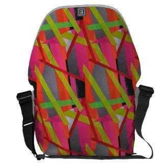 Modern Tape Art Neon Commuter Bag