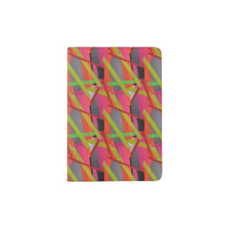 Modern Tape Art Neon Passport Holder