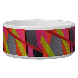 Modern Tape Art Neon Pet Bowls