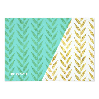 Modern Teal and Gold Note Cards