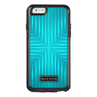 Modern Teal Blue Black OtterBox iPhone 6/6s Case