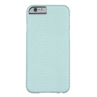 Modern Teal Chevron Barely There iPhone 6 Case