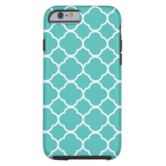 Modern Teal Geometric Pattern Trendy Tough iPhone 6 Case