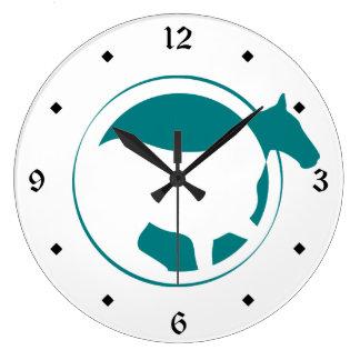 Modern Teal Horse Circle Clocks