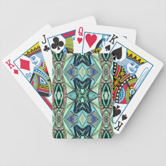Modern Teal Lilac Peach Artistic Pattern Bicycle Playing Cards