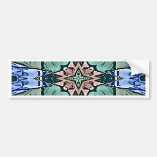 Modern Teal Lilac Peach Artistic Pattern Bumper Sticker
