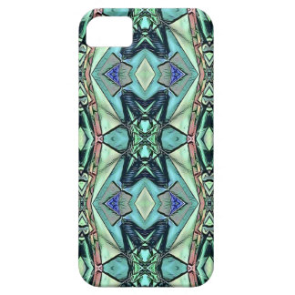 Modern Teal Lilac Peach Artistic Pattern Case For The iPhone 5