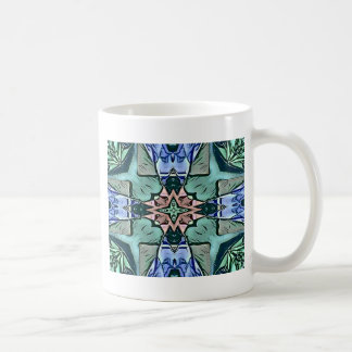 Modern Teal Lilac Peach Artistic Pattern Coffee Mug